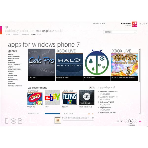 Find New Apps and Games with Zune
