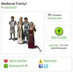The Sims 3 Medieval Family