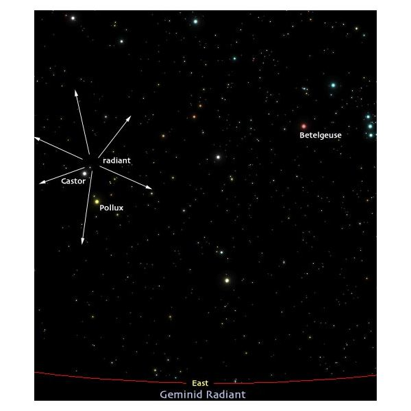 Geminid Meteor Shower Location