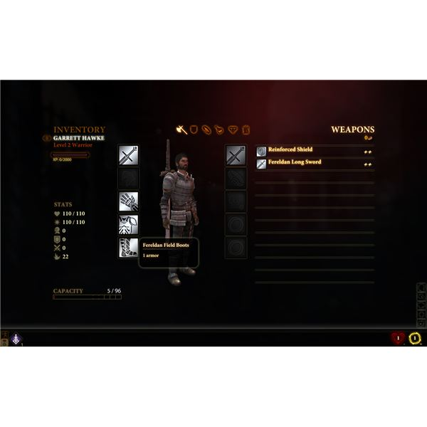 Dragon Age 2: Hawke's Inventory