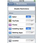 iPod Touch Restrictions