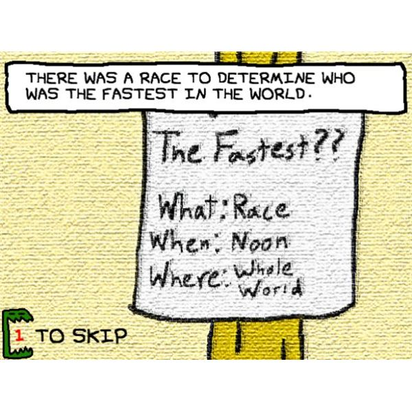 Sonic chose to ignore this race because he knew RunMan would be there.