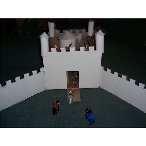 How to make a cardboard castle for a homeschooling project for Build a castle home
