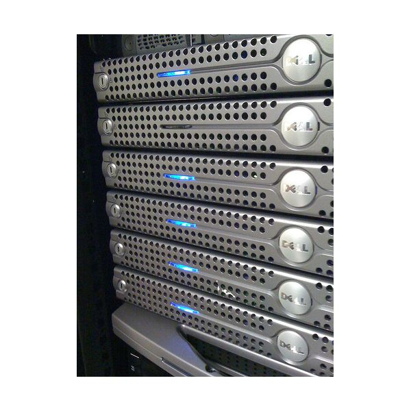 A stack of servers by Jamison Judd