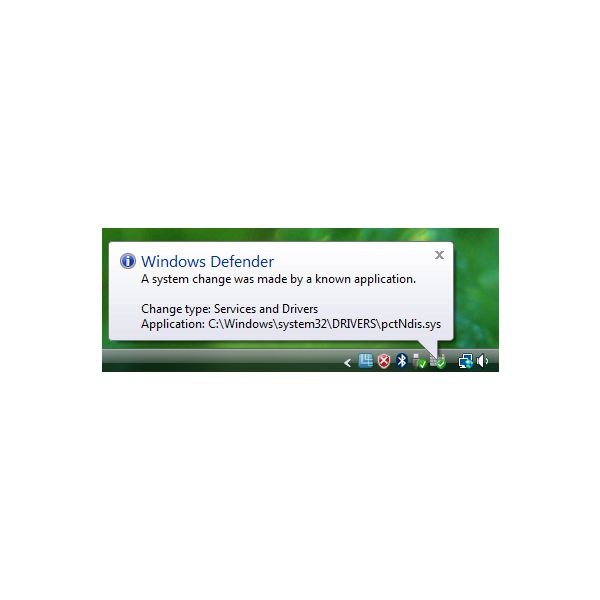 PC Tools Firewall Plus Driver Installation Noticed by Windows Defender