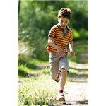 Boy running and playing.