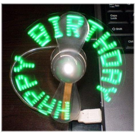 USB Flashing Fan