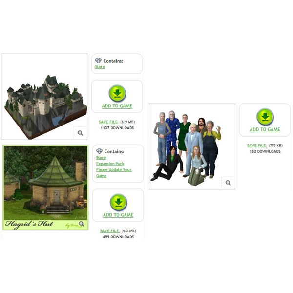 The Sims 3 Hogwarts downloads