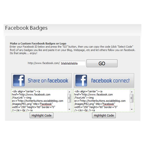 Go Facebook Buttons