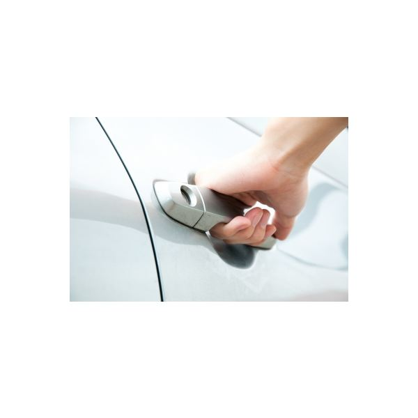 Car Handle - woman's hand