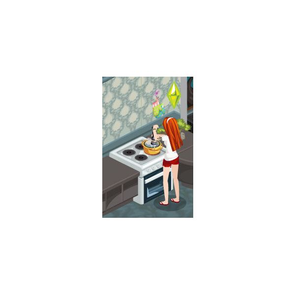The Sims Social Cooking Skill