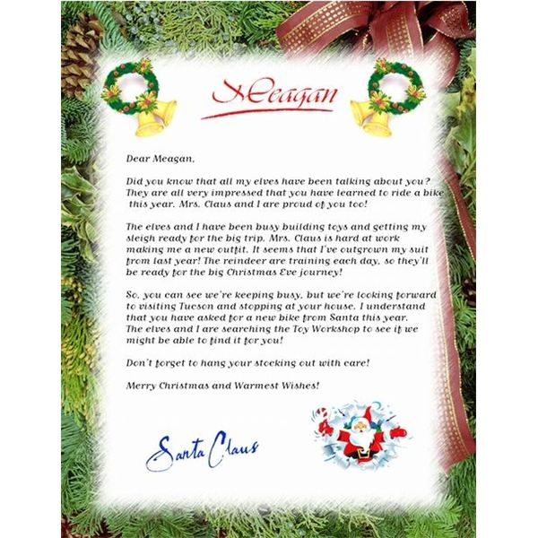 Guide to finding a free christmas letter template free letter from santa spiritdancerdesigns Images