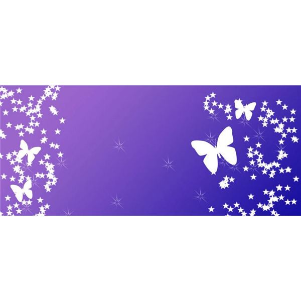 Butterfly Star Background