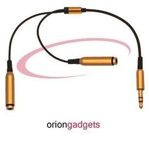 3.5mm Stereo Headphones Splitter Adapter