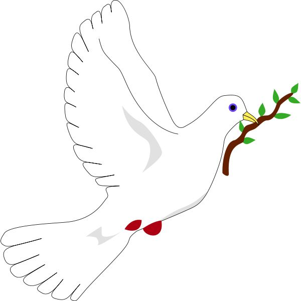 Peace dove with an olive branch