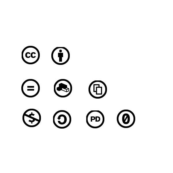 Creative Commons icons