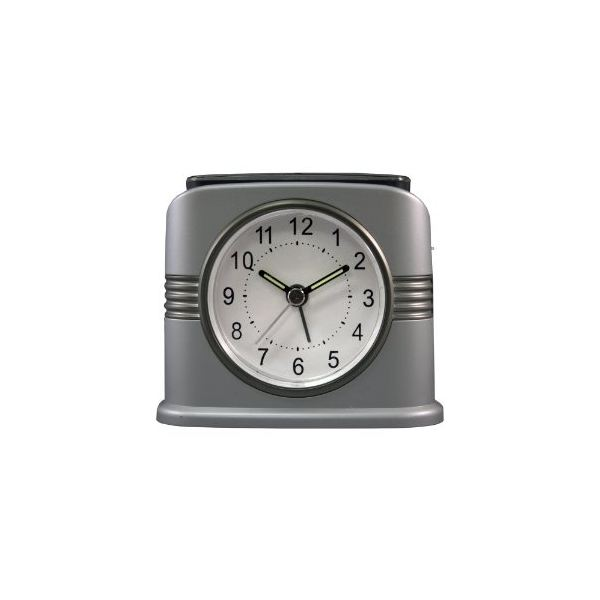 Equity by La Crosse 65901 Hybrid Solar Analog Alarm Clock