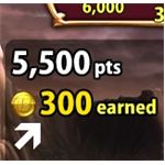 An example of the number of coins earned in one game.