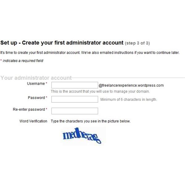 First Administrator account