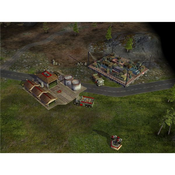A Forward Base Collecting Supplies in Command and Conquer Generals