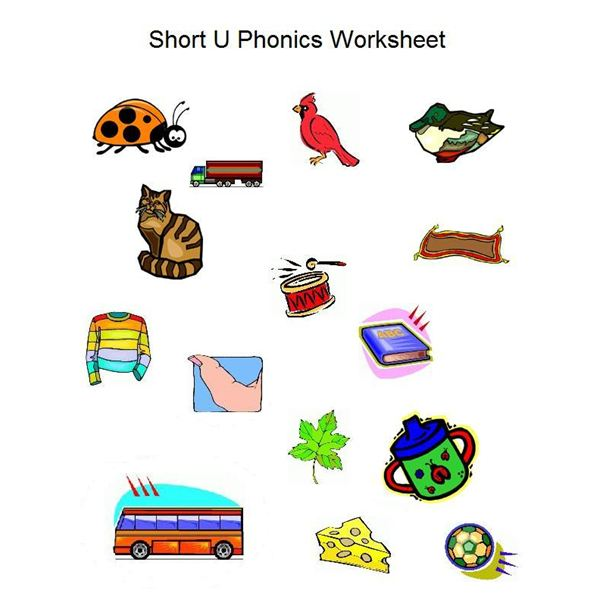 Short U Phonics Worksheet