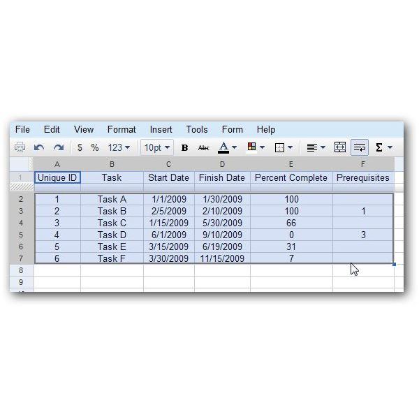 Select Data in Table