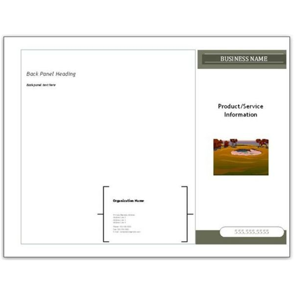 brochure publisher template - 10 microsoft publisher brochure golf template options