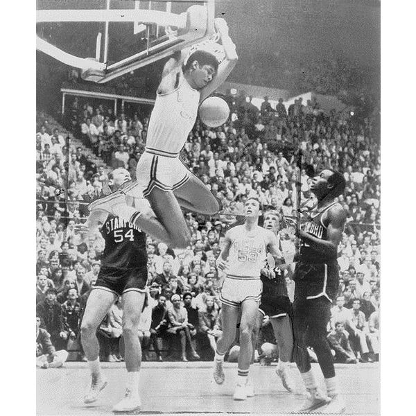 Lew Alcindor, later named Kareem Abdul-Jabbar, won three consecutive Most Outstanding Player Awards in NCAA Division I Men's College Basketball Tournament play.