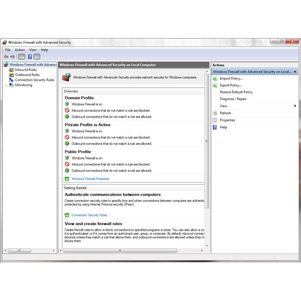Windows Firewall with Advanced Security in Windows 7