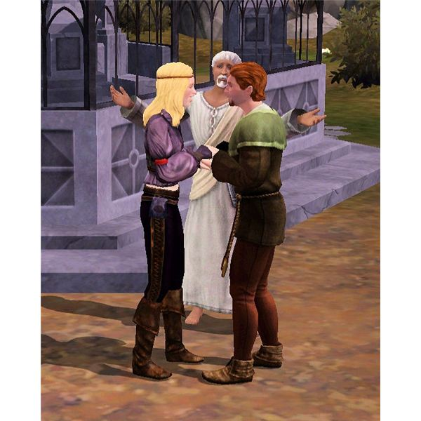 The Sims Medieval wedding at watchers bluff