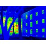 Thermographic image of energy efficient building