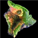 Satellite Image of the Island of Hawaii