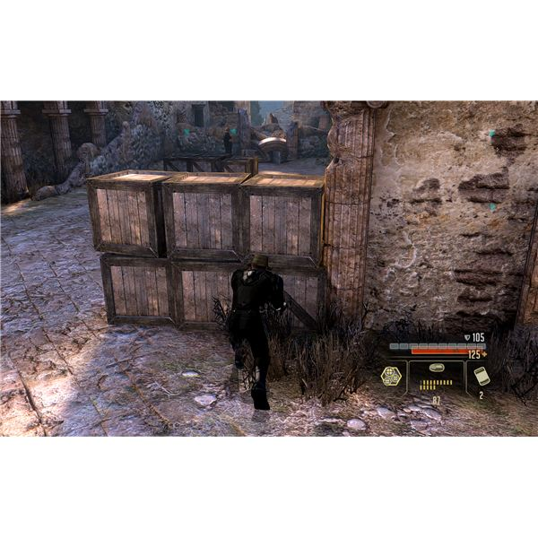 Alpha Protocol Walkthrough - Entering the Ruins Stealthily Takes Some Careful Shooting