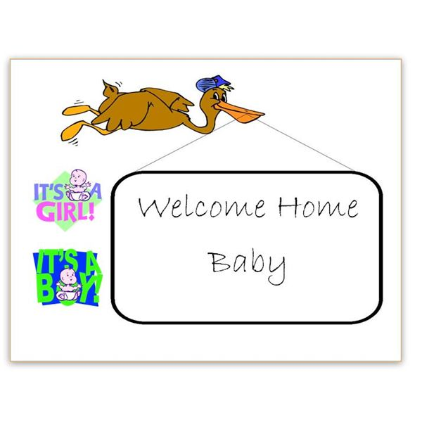 Baby Welcome Home Sign for Word