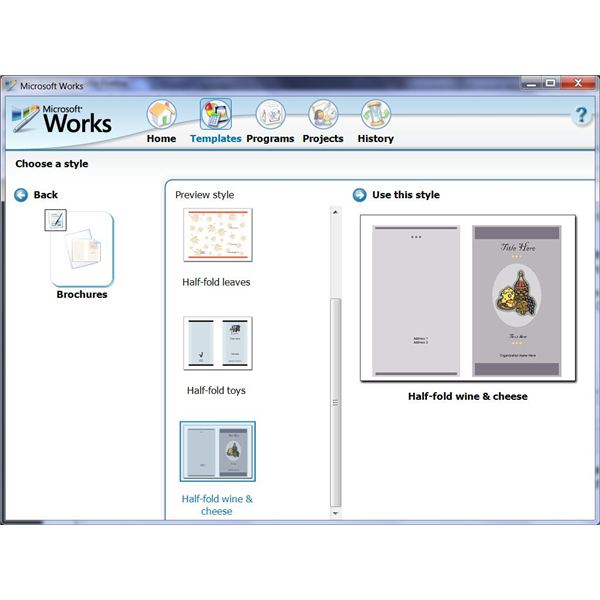 brochure insert template - how to use the free brochure templates for microsoft works