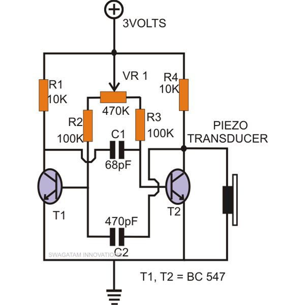 Electronic Mosquitto Repeller Circuit Diagram, Image