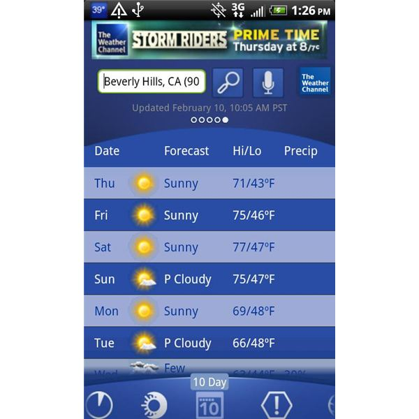 Top Android Applications - The Weather Channel