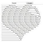 JavaScript ASCII Heart Generator