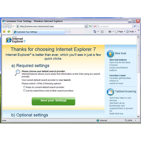 Successful reset of IE7