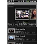 YouTube application on an HTC Hero