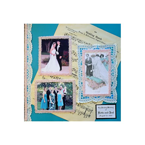 10 Beautiful Wedding Scrapbook Layouts & Pages, Plus Great Freebies to Download!