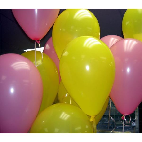 Pink and Yellow Balloons