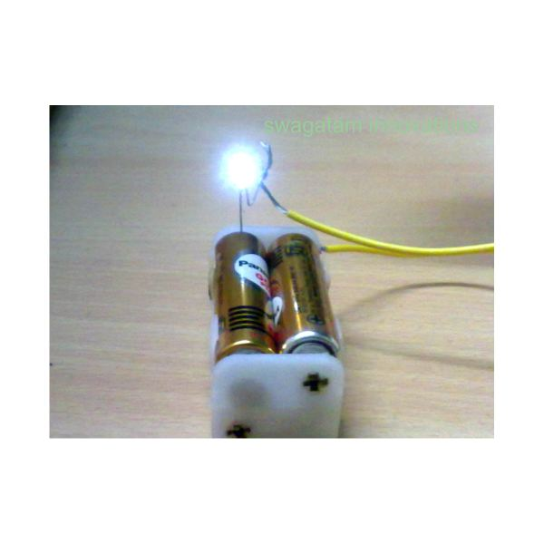 Batteries, LED, Simple Circuit Experiment, Image
