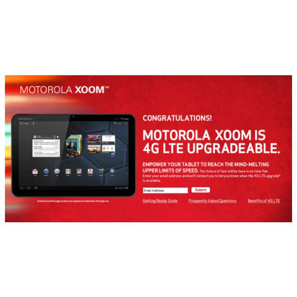How to Receive Your Xoom 4G Verizon Upgrade
