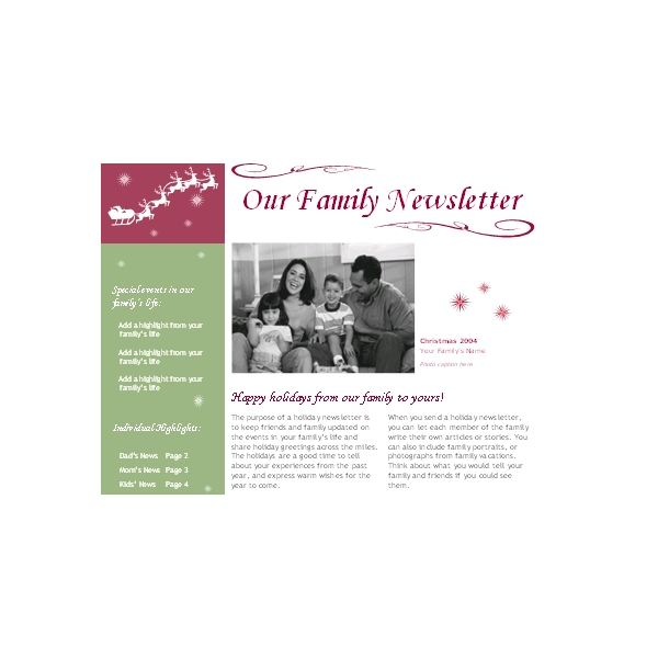 free winter newsletter templates download customize and use for