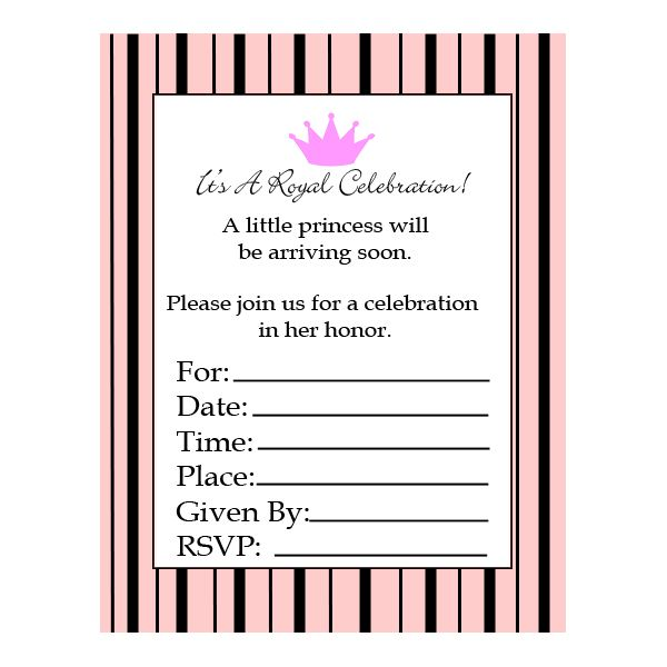 Itu0027s A Royal Celebration! These Adorable And Free Printable Baby Shower  Invitations ...